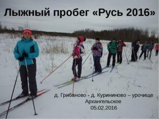 Лыжный пробег «Русь 2016» д. Грибаново - д. Курининово – урочище Архангельско