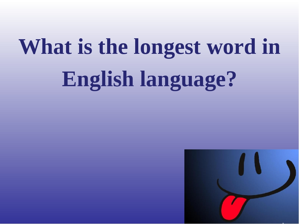 What is the longest word in English language?