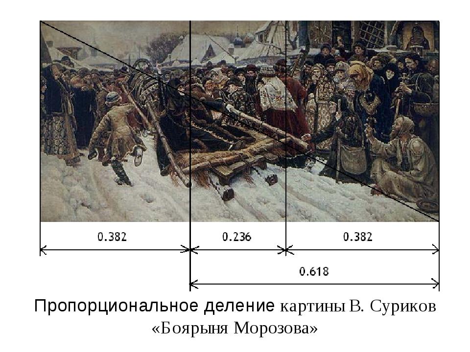 Пропорциональное деление картины В. Суриков «Боярыня Морозова»