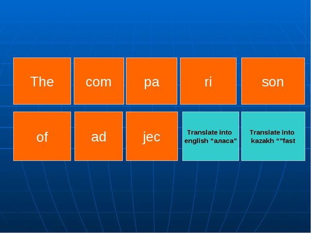 """Translate into kazakh """"""""fast Translate into english """"аласа"""" of ad The son pa..."""