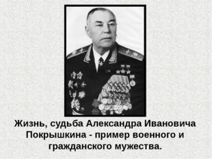 Жизнь, судьба Александра Ивановича Покрышкина - пример военного и гражданског