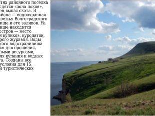 В окрестностях районного поселка Быково находятся «зона покоя», где запрещен