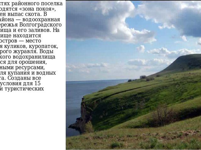 В окрестностях районного поселка Быково находятся «зона покоя», где запрещен...