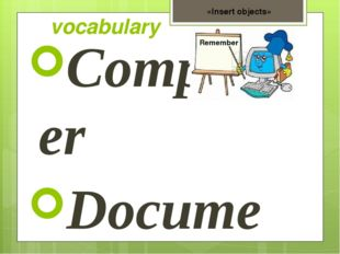 vocabulary Computer Document Folder Tools panel Copy Insert Format Pictures F