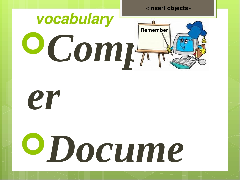 vocabulary Computer Document Folder Tools panel Copy Insert Format Pictures F...