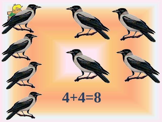 4+4=8