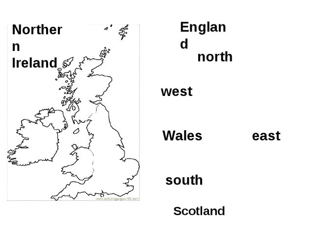 England Wales Scotland Northern Ireland south north west east