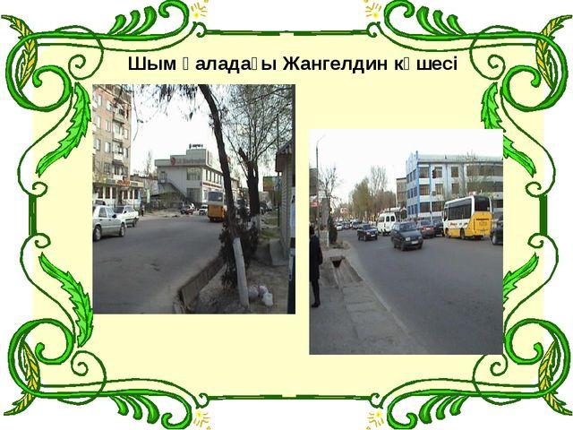 Шым қаладағы Жангелдин көшесі