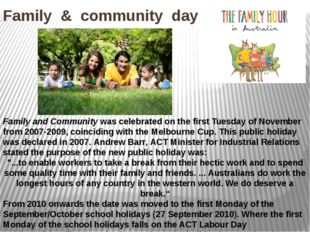 Family & community day Family and Community was celebrated on the first Tuesd