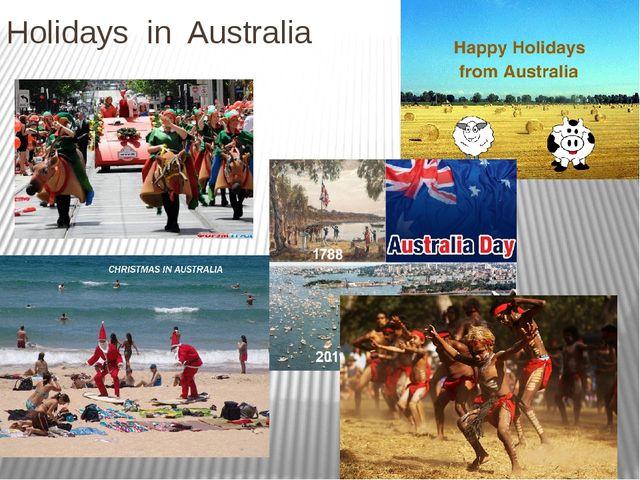 Holidays in Australia