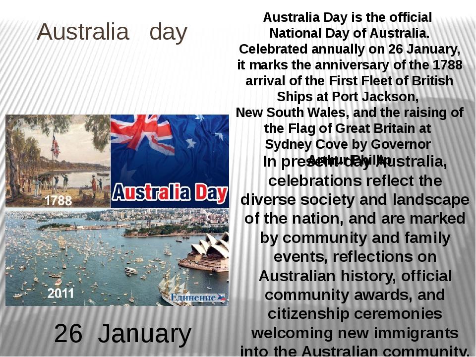 Australia day Australia Day is the official National Day of Australia. Celebr...
