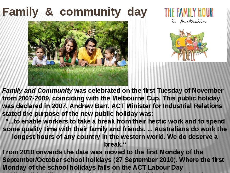 Family & community day Family and Community was celebrated on the first Tuesd...