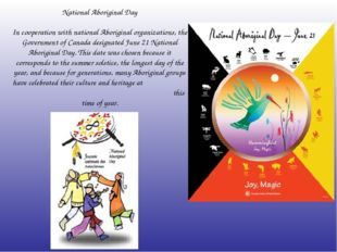 National Aboriginal Day In cooperation with national Aboriginal organizations