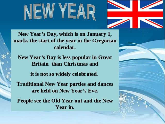 New Year's Day, which is on January 1, marks the start of the year in the Gre...