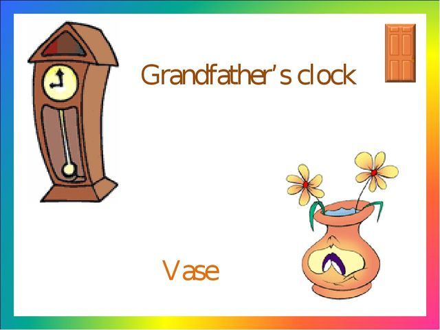 Grandfather's clock Vase