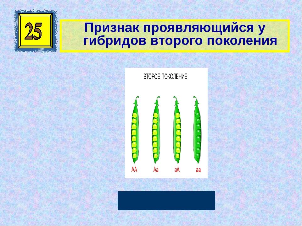 Признак проявляющийся у гибридов второго поколения Рецессивный Автор: Руссков...
