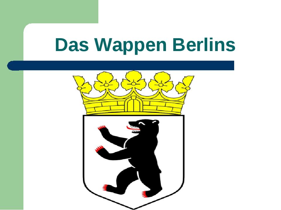 Das Wappen Berlins