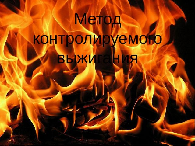 Метод контролируемого выжигания