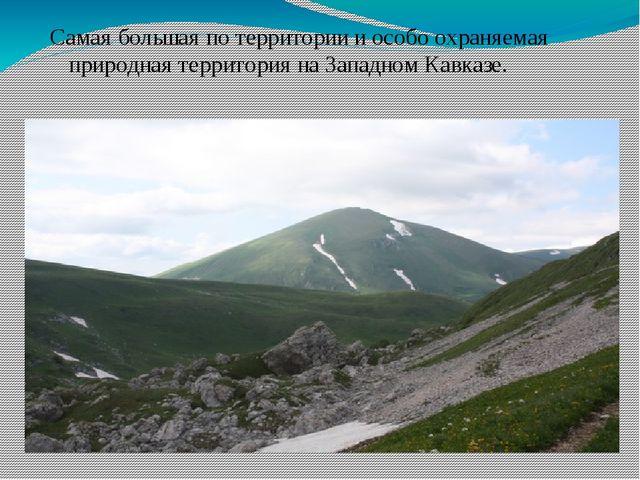 Самая большая по территории и особо охраняемая природная территория на Запад...