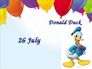 Donald Duck 26 July