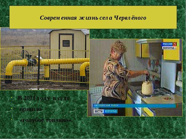 В 2011 году в село пришло «голубое топливо». Современная жизнь села Червлёного