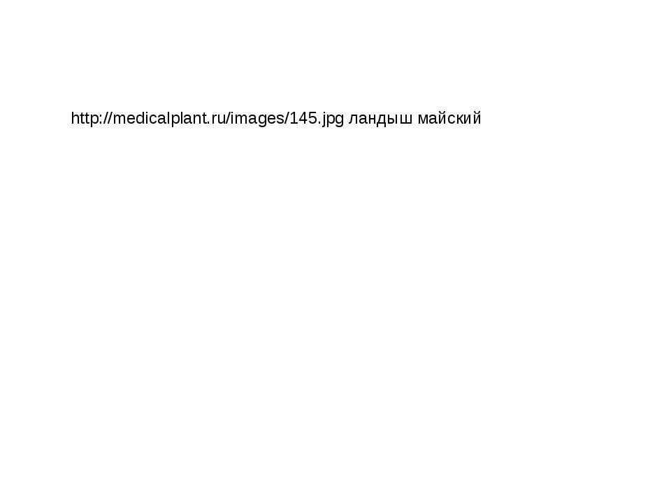 http://medicalplant.ru/images/145.jpg ландыш майский
