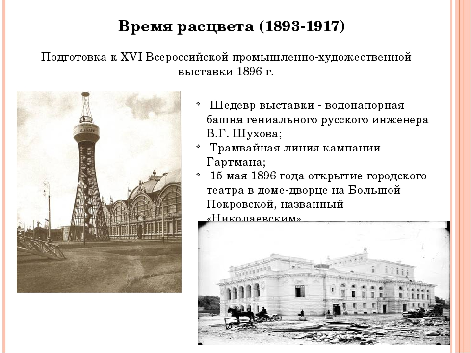 Время расцвета (1893-1917) Подготовка к XVI Всероссийской промышленно-художес...