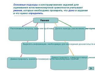 Основные подходы к конструированию заданий для оценивания естественнонаучной