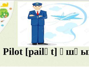Pilot [pailәt] ұшқыш