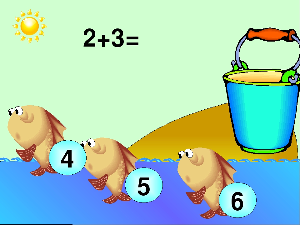 2+3= 5 4 6 Устный счёт (используются числовой веер, сигнальные карточки): иг...