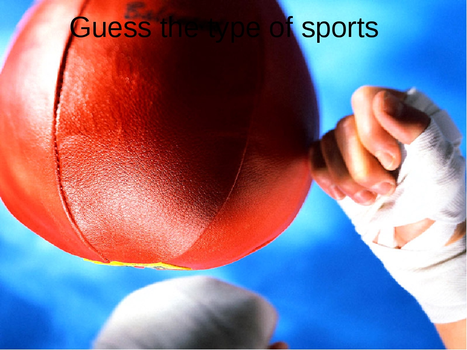 Guess the type of sports