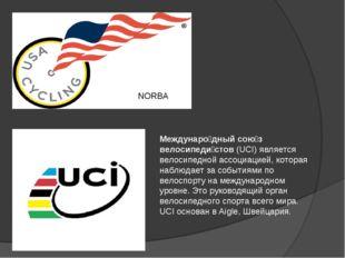 NORBA Междунаро́дный сою́з велосипеди́стов (UCI) является велосипедной ассоци