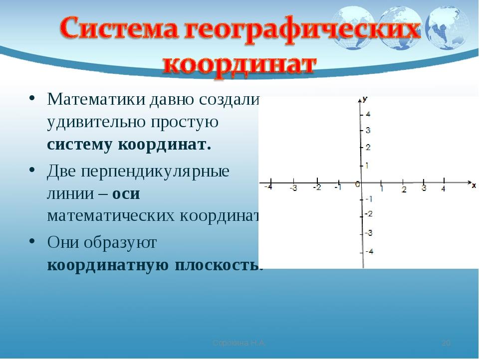 Математики давно создали удивительно простую систему координат. Две перпендик...