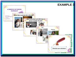 EXAMPLE 3 Пример мини-проекта о профессии