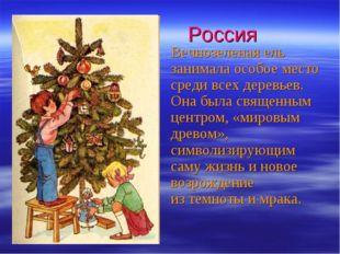 Россия Вечнозеленая ель занимала особое место среди всех деревьев. Она была с
