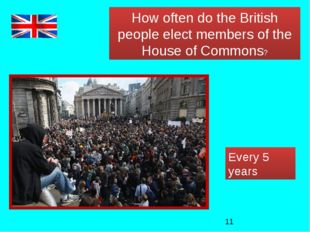 How often do the British people elect members of the House of Commons? Every