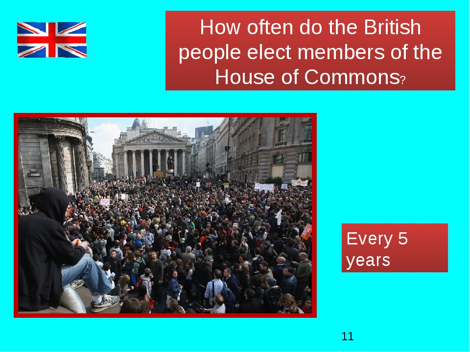 How often do the British people elect members of the House of Commons? Every...