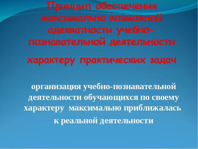 организация учебно-познавательной деятельности обучающихся по своему характер...