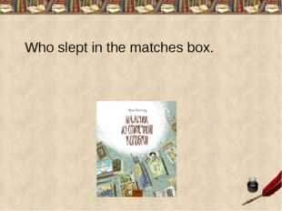 Who slept in the matches box.