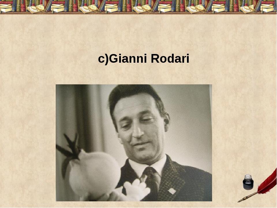 c)Gianni Rodari