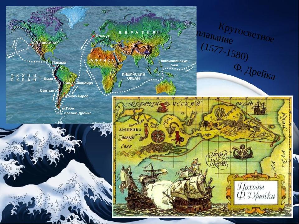 Кругосветное плавание (1577-1580) Ф. Дрейка