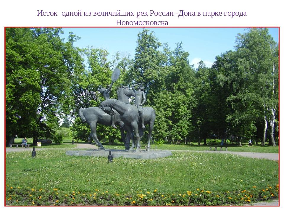 Исток одной из величайших рек России -Дона в парке города Новомосковска