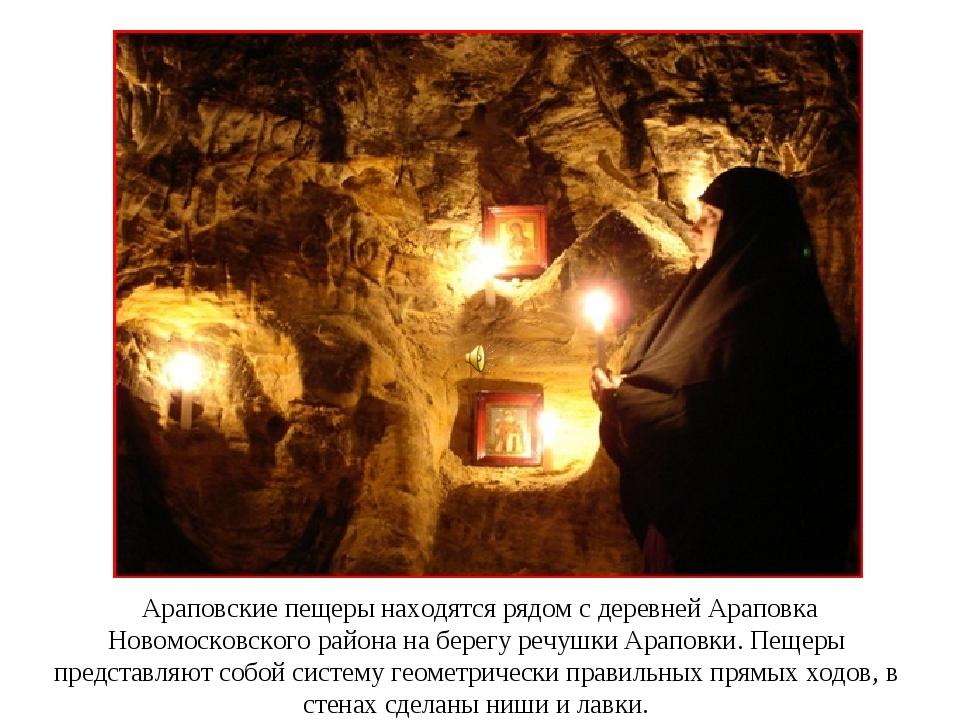 Араповские пещеры находятся рядом с деревней Араповка Новомосковского района...