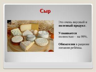 Сыр Это очень вкусный и полезный продукт. Усваивается полностью - на 99%. Об