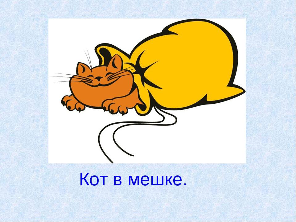 Кот в мешке.