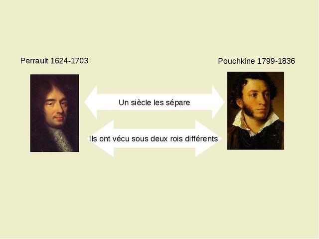 Perrault 1624-1703 Pouchkine 1799-1836 Un siècle les sépare Ils ont vécu sous...
