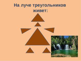 На луче треугольников живет: