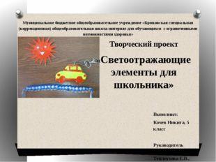 Муниципальное бюджетное общеобразовательное учреждение «Брюховская специальна