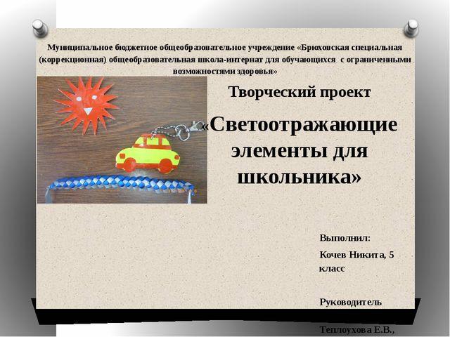 Муниципальное бюджетное общеобразовательное учреждение «Брюховская специальна...