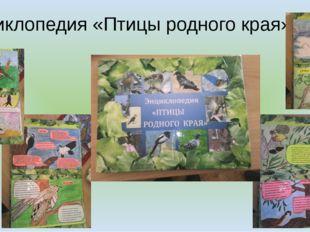 Энциклопедия «Птицы родного края»